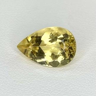5.08 Cts. Yellow Beryl 14.5x10mm Regular Cut Pear Shape Loose Gemstone - SKU:158259