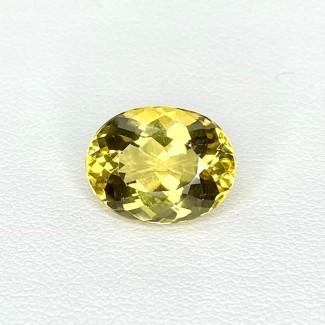 5.10 Cts. Yellow Beryl 12.5x10mm Regular Cut Oval Shape Loose Gemstone - SKU:158243