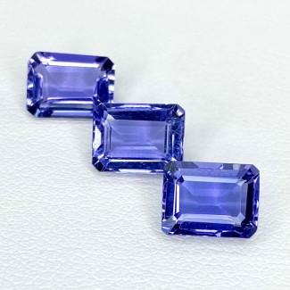 4.59 Cts. Iolite 8x6mm Step Cut Octagon Shape Loose Gemstone - Total 3 Pcs. - SKU:158408