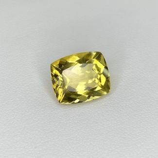 5.40 Cts. Yellow Beryl 12.5x10.5mm Regular Cut Cushion Shape Loose Gemstone - SKU:158241