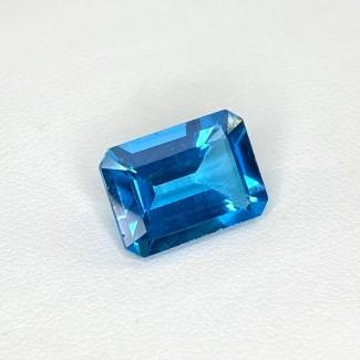 8.81 Cts. Swiss-Blue Topaz 14x10mm Step Cut Octagon Shape Loose Gemstone - SKU:158368