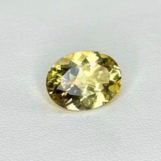 5.50 Cts. Yellow Beryl 14x11mm Regular Cut Oval Shape Loose Gemstone - SKU:158263