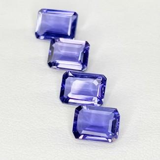 4.87 Cts. Iolite 8x6mm Step Cut Octagon Shape Loose Gemstone - Total 4 Pcs. - SKU:158416