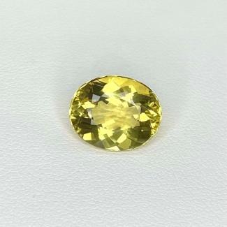 5.70 Cts. Yellow Beryl 13x11mm Regular Cut Oval Shape Loose Gemstone - SKU:158256