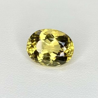 5.75 Cts. Yellow Beryl 13x10mm Regular Cut Oval Shape Loose Gemstone - SKU:158260