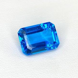 9.50 Cts.Swiss-Blue Topaz 14x10mm Step Cut Octagon Shape Loose Gemstone - SKU:158352