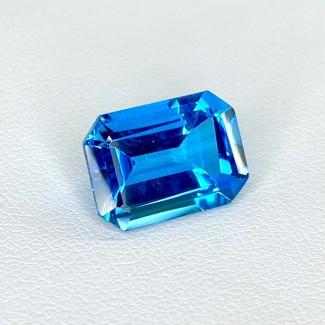 9.49 Cts. Swiss-Blue Topaz 14x10mm Step Cut Octagon Shape Loose Gemstone - SKU:158362