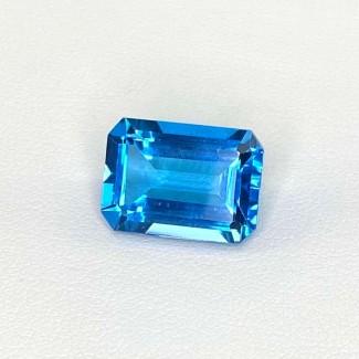 9.63 Cts. Swiss-Blue Topaz 14x10mm Step Cut Octagon Shape Loose Gemstone - SKU:158369