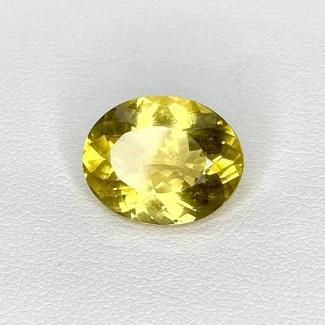 6.00 Cts. Yellow Beryl 14x11mm Regular Cut Oval Shape Loose Gemstone - SKU:158251