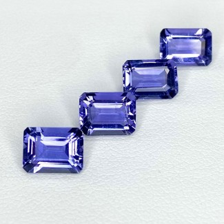 5.38 Cts. Iolite 8x6mm Step Cut Octagon Shape Loose Gemstone - Total 4 Pcs. - SKU:158417