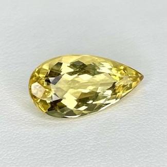 6.25 Cts. Yellow Beryl 19x9.5mm Regular Cut Pear Shape Loose Gemstone - SKU:158262