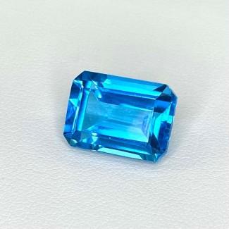 10.34 Cts. Swiss-Blue Topaz 14x10mm Step Cut Octagon Shape Loose Gemstone - SKU:158361