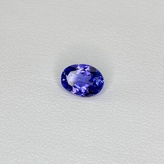 1.11 Cts. Tanzanite 7.48x5.54mm Regular Cut Oval Shape Loose Gemstone - SKU:158167