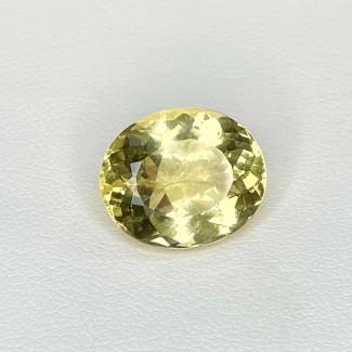 6.53 Cts. Yellow Beryl 14x11.5mm Regular Cut Oval Shape Loose Gemstone - SKU:158261