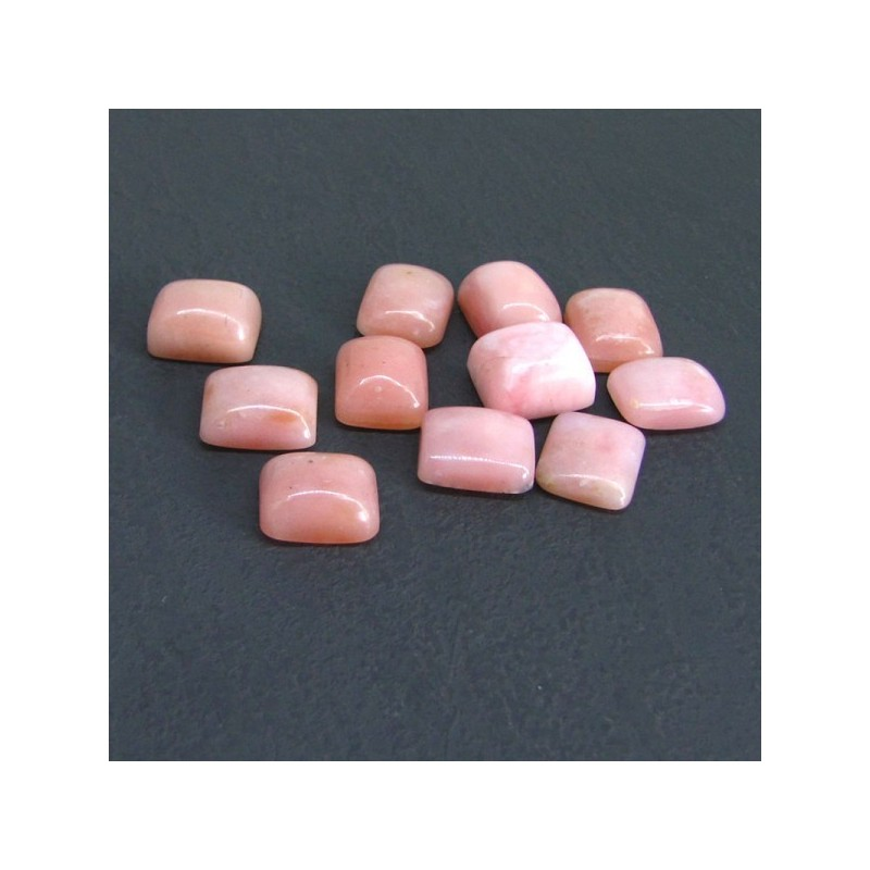 53.10 Cts. Pink Opal 12x10mm Cushion Shape Cabochon Parcel (11 Pcs.)