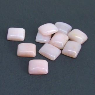 41.50 Cts. Pink Opal 12x10mm Cushion Shape Cabochon Parcel (10 Pcs.)