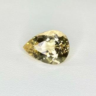 6.70 Cts. Yellow Beryl 16x11.5mm Regular Cut Pear Shape Loose Gemstone - SKU:158253