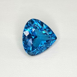 10.26 Cts. London-Blue Topaz 14mm Regular Cut Heart Shape Loose Gemstone - SKU:158181