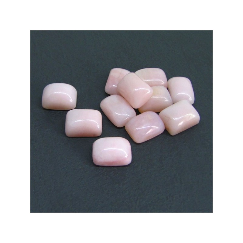 76.70 Cts. Pink Opal 14x10mm Cushion Shape Cabochon Parcel (11 Pcs.)