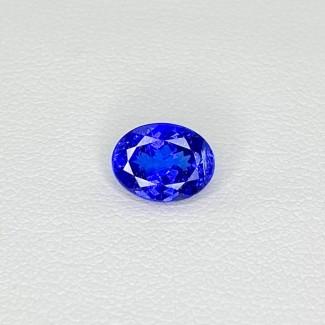 1.60 Cts. Tanzanite 8.11x6.20mm Regular Cut Oval Shape Loose Gemstone - SKU:158220