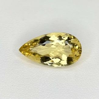 6.95 Cts. Yellow Beryl 18.5x10mm Regular Cut Pear Shape Loose Gemstone - SKU:158265