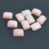 69.05 Cts. Pink Opal 14x10mm Cushion Shape Cabochon Parcel (10 Pcs.)