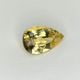 7.05 Cts. Yellow Beryl 17x11mm Regular Cut Pear Shape Loose Gemstone - SKU:158224