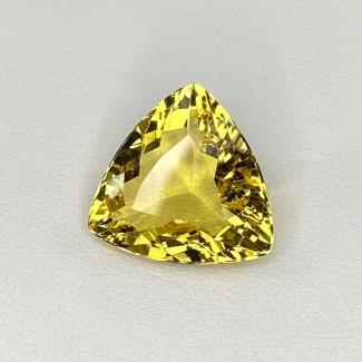 7.50 Cts. Yellow Beryl 15mm Regular Cut Trillion Shape Loose Gemstone - SKU:158230