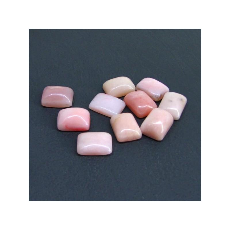 99.50 Cts. Pink Opal 16x12mm Cushion Shape Cabochon Parcel (10 Pcs.)