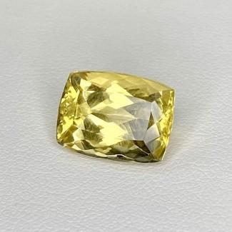 7.45 Cts. Yellow Beryl 14x10mm Regular Cut Cushion Shape Loose Gemstone - SKU:158268