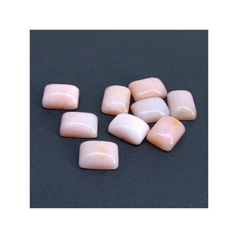 89.50 Cts. Pink Opal 16x12mm Cushion Shape Cabochon Parcel (9 Pcs.)
