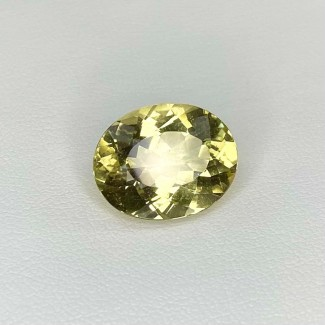 7.50 Cts. Yellow Beryl 15x12mm Regular Cut Oval Shape Loose Gemstone - SKU:158258