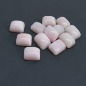 130.50 Cts. Pink Opal 16x12mm Cushion Shape Cabochon Parcel (12 Pcs.)