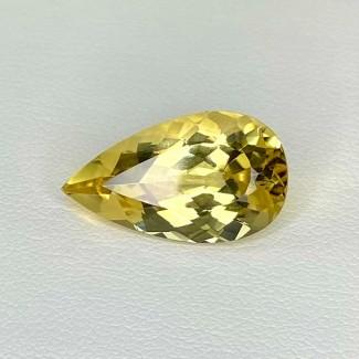 7.50 Cts. Yellow Beryl 19x10.5mm Regular Cut Pear Shape Loose Gemstone - SKU:158257