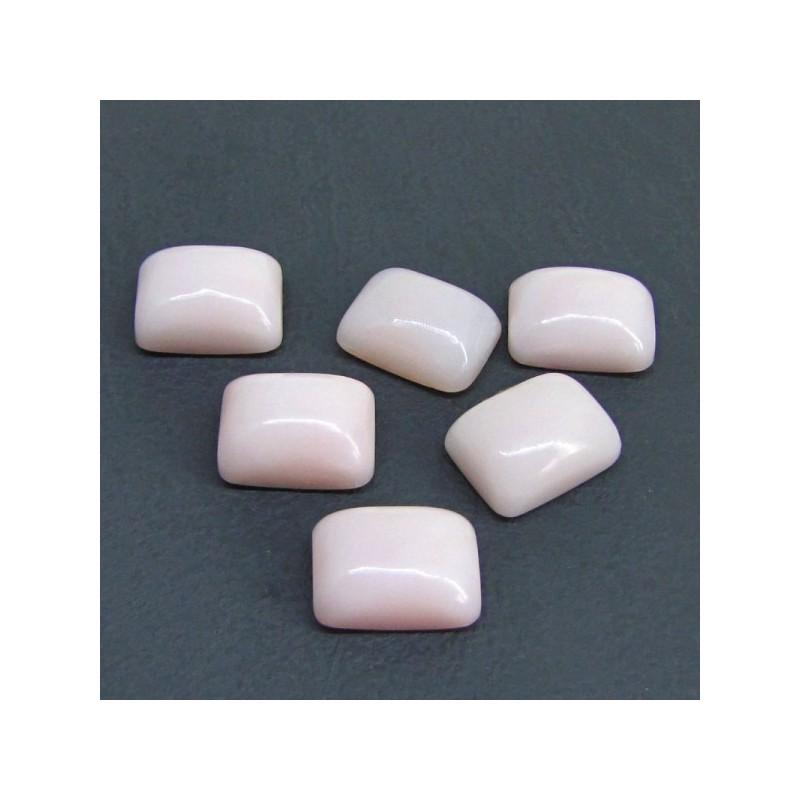 64.50 Cts. Pink Opal 16x12mm Cushion Shape Cabochon Parcel (6 Pcs.)