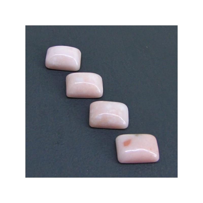 56.65 Cts. Pink Opal 18x13mm Cushion Shape Cabochon Parcel (4 Pcs.)