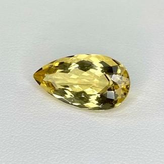 7.60 Cts. Yellow Beryl 18.5x10mm Regular Cut Pear Shape Loose Gemstone - SKU:158248