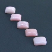 67.65 Cts. Pink Opal 18x13mm Cushion Shape Cabochon Parcel (5 Pcs.)