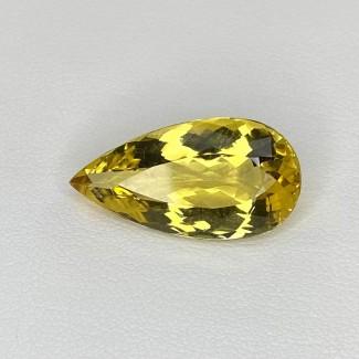 7.90 Cts. Yellow Beryl 20x10mm Regular Cut Pear Shape Loose Gemstone - SKU:158226