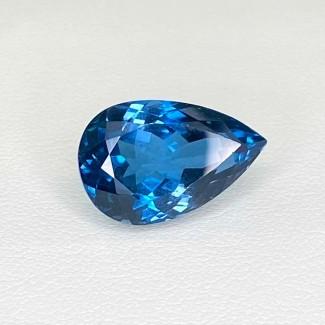 12.71 Cts. London-Blue Topaz 17x11mm Regular Cut Pear Shape Loose Gemstone - SKU:158188