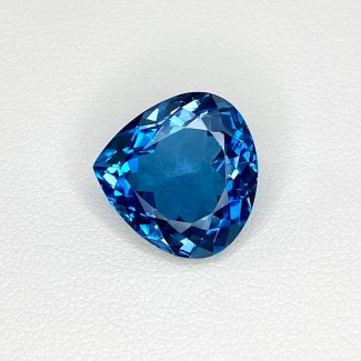 13.26 Cts. London-Blue Topaz 15.5mm Regular Cut Heart Shape Loose Gemstone - SKU:158179