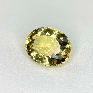 9.50 Cts. Yellow Beryl 16x13mm Regular Cut Oval Shape Loose Gemstone - SKU:158242