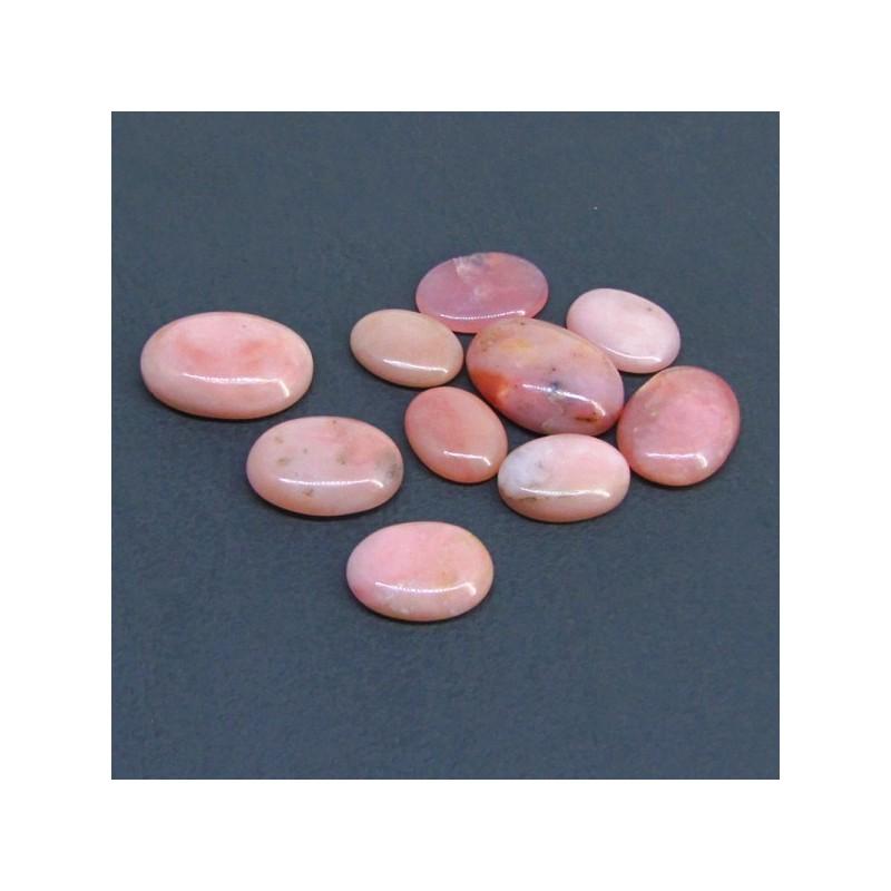84.50 Cts. Pink Opal 12x15-12x23mm Oval Shape Cabochon Parcel (10 Pcs.)