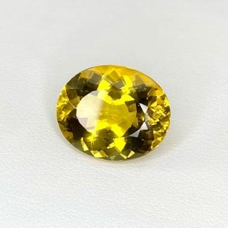 12.20 Cts. Yellow Beryl 17x14mm Regular Cut Oval Shape Loose Gemstone - SKU:158244