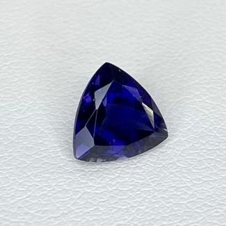 1.61 Cts. Iolite 8mm Regular Cut Trillion Shape Loose Gemstone - SKU:158400