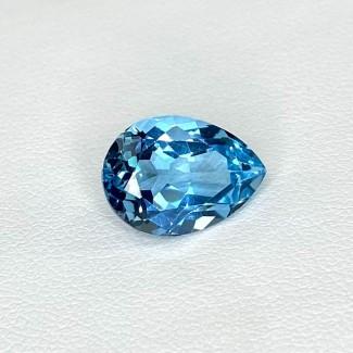 6.20 Cts. Sky-Blue Topaz 13.5x9.5mm Regular Cut Pear Shape Loose Gemstone - SKU:158324