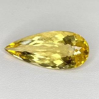 14.50 Cts. Yellow Beryl 28x12mm Regular Cut Pear Shape Loose Gemstone - SKU:158225