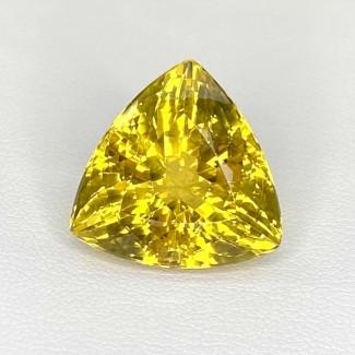 15.75 Cts. Yellow Beryl 17mm Regular Cut Trillion Shape Loose Gemstone - SKU:158227