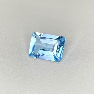 7.45 Cts. Swiss-Blue Topaz 13.5x10mm Step Cut Octagon Shape Loose Gemstone - SKU:158319