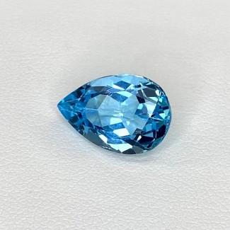 7.45 Cts. Sky-Blue Topaz 15x10mm Regular Cut Pear Shape Loose Gemstone - SKU:158320